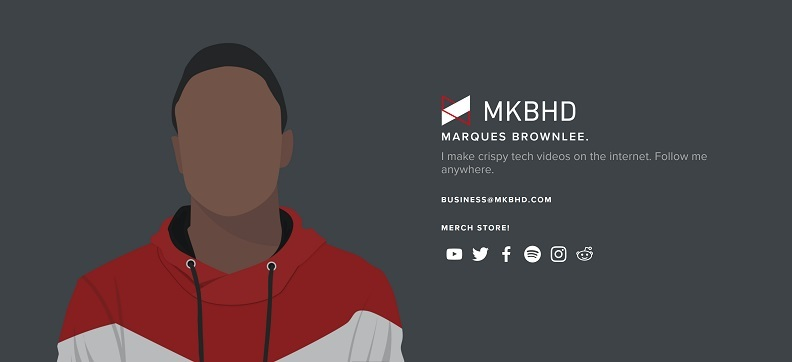 Marques Brownlee and his MKBHD brand