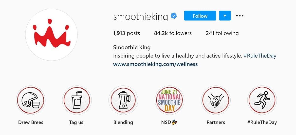 Smoothie King Instagram Bio
